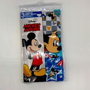 Disney-Mickey Mouse boys briefs-set of 3-size 4T